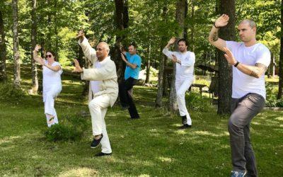 Pratiques Tai Chi dans les parcs